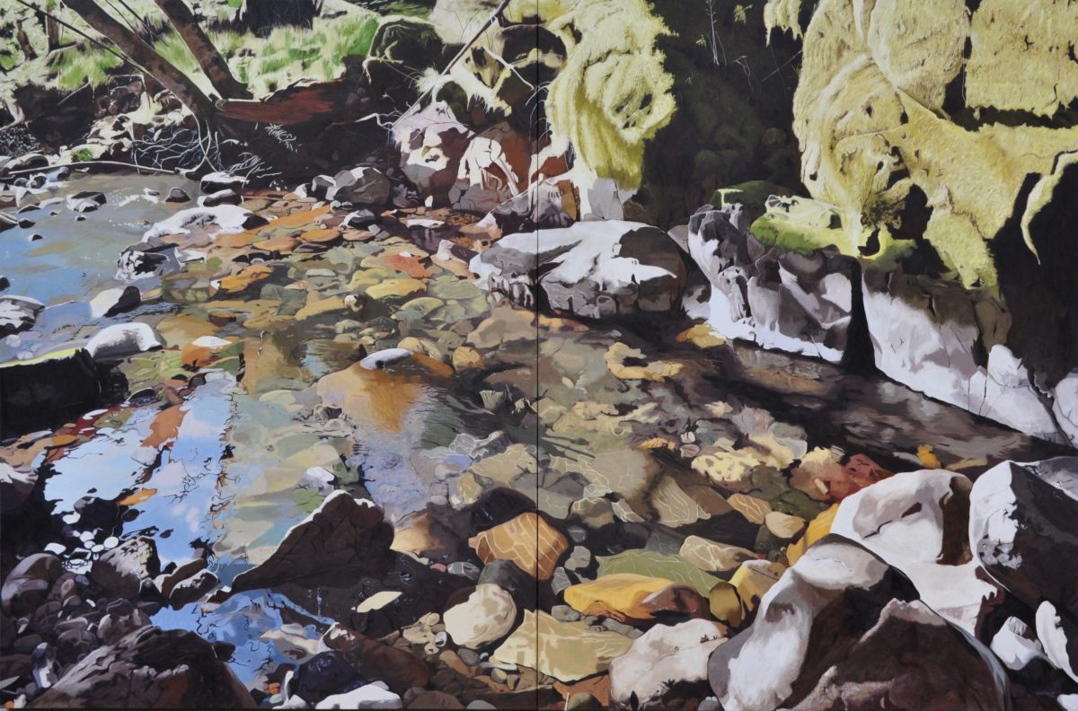 William's Creek, oil on canvas, 66x100